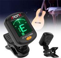 AROMA AT-01A Drehbares Clip-On-Tuner-LCD-Display für chromatische Gitarren-Bass-Ukulelen-Violine