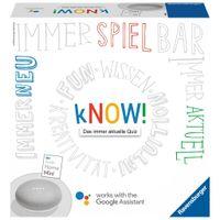 RAVENSBURGER Quizspiel kNOW! mit Google Home Mini Erwachsenenspiel Funspiel
