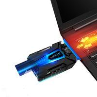 COOLCOLD Laptop Kühler ,tragbare Low Noise Silent USB Luft Extrahierung Laptop Lüfter Kuehler mit Vakuumgeblaese Vier Sleeves fuer Gaming taeglichen Gebrauch