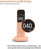 GIGASET CL390HX orange Schnurloses-Telefon Bis zu 150 Telefonbucheinträge