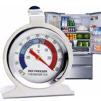 Küche Kühlschrankthermometer Kühlthermometer 1 Stück Edelstahl zur Kontrolle von Kühl- und Gefrierschrank (1 Pack)