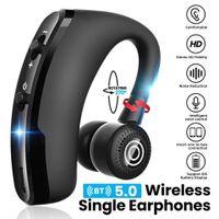 V9-Kopfhörer Bluetooth-kompatibler Kopfhörer Freisprech-Wireless-Headset Geräuschunterdrückung mit Mikrofon Hochwertiges Stereo-Audio Schwarz