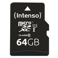 Intenso 64 GB microSDXC Speicherkarte UHS-I Premium inkl. SD-Adapter