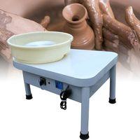 Keramikformmaschine Elektrische Töpferscheibe Keramikmaschine DIY Clay Werkzeug 25cm mit Fußpedal 250W 220V