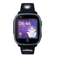 SoyMomo Space 4G - Telefon Uhr für Kinder (SIM-frei) - 4G, Videoanrufe, Anrufe, (Sprach)Nachrichten, Schulmodus, SOS-Funktion, GPS, Kamera, Taschenlampe und Schrittzähler (SCHWARZ)