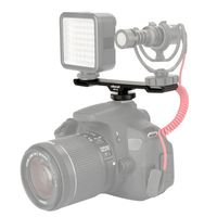 Ulanzi PT-2 Doppel-Blitzschuh Mount Extension Bar Dual Halterung fuer DV DSLR Kamera Smartphone Mic LED-Licht