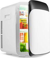 GOPLUS 15 L Mini Kühlschrank mit Heizfunktion, Tragbarer Autokühlschrank, Elektrischer Kühler und Erw?rmer, Tragbarer Kühlschrank, mit ECO-Modus, -350 °C, für Auto Haus Büro