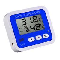 Batteriebetriebenes Digitales LED Temperatur Feuchtigkeitsmesser Messgerät Thermometer Farbe #3