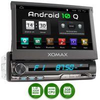 XOMAX XM-VA774: 1DIN Autoradio mit Android 10 Navi 7 Zoll Touchscreen Monitor, Bluetooth, SD und USB
