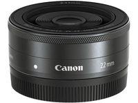 CANON EF-M 22mm 2.0 STM für EOS-M Objektiv, 35 mm f/2 STM, EF-M, Weitwinkel, System: Canon EF-M, Schwarz