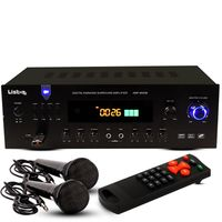 600 Watt Verstärker Bluetooth, MP3 2 Mikrofone AMP 8000 BT