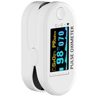 Pulsoximeter, Messung von Sauerstoffsättigung (SpO₂) und Herzfrequenz (Puls), schmerzfreie Anwendung, leicht ablesbares Farbdisplay, Darstellung der Herzfrequenz