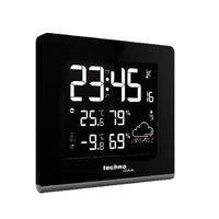Funk-Wetterstation Ws 9065 Fardisplay Farbwechsel Wettervorhersage Temperatur Luftfeuchtgkeit Schwarz