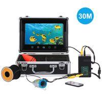 Fischfinder Kamera Unterwasser Nachtsicht Angelkamera 30M 1000TVL mit 7 Zoll LCD Monitor