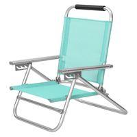 SONGMICS Strandstuhl mit Armlehnen | tragbarer Klappstuhl Rückenlehne 4-stufig verstellbar grün GCB065C01