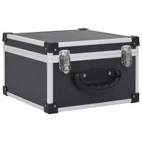 vidaXL CD-Koffer für 40 CDs Aluminium ABS Schwarz