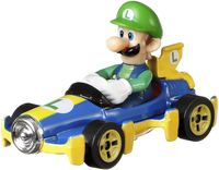 Hot Wheels Mario Kart Replica 1:64 Die-Cast Luigi