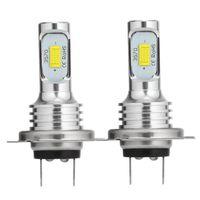 2x H7 Scheinwerfer Birnen Halogenlampen LED Auto Fern- Abblendlicht Canbus 6500K COB DRL Canbus 12-24V