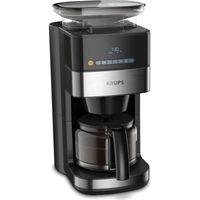 Krups KM 8328 Grind Aroma Filterkaffeemaschine,Schwarz / Edelstahl-Applikationen