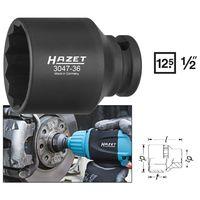 Hazet Schlag-, Maschinenschrauber-Steckschlüssel-Einsatz (Doppel-6kt.)  3047-36 - Vier