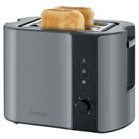 Severin AT 9541 Automatik-Toaster Edelstahl grau-metallic / schwarz, Farbe:Grau-Metallic