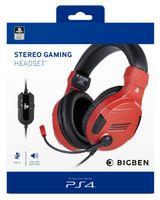 PS4 Kopfhörer mit Mikrofon - Farbe: Rot