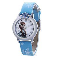 1x Kinder Cartoon Armbanduhr Frozen Elsa & Anna Watch Band Elsa Anna Children Party Birthday Gift Blau