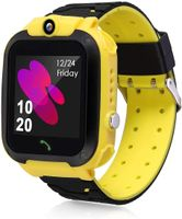 Kinder Smartwatch Telefon Uhr, Wasserdicht Kids Smart Watch für Kinder mit SOS Deutsche Anzeige Gelb