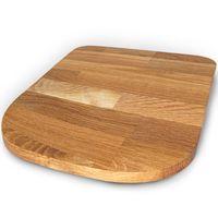 StreamBrush® Premium - Gleitbrett Holz-Gleiter Untersetzer aus Massivholz für den Thermomix TM5 / TM31 Eiche SE