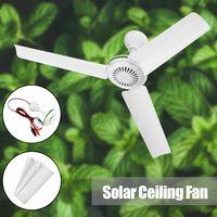 DE 12V 6W mini Eterfan Solar Deckenventilator Decken Ventilator Fan 210mm weiß