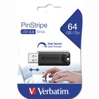 Verbatim Store 'n' Go Pin Stripe USB Drive - USB-Flash-Laufwerk - 64 GB
