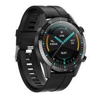 Bluetooth Smart Watch Handgelenk Körpertemperaturmonitor Sport EKG Gesundheit Herzfrequenz Schwarzes Silikonband