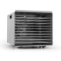 Klarstein Fruit Jerky Pro 10 - Dörrgerät , Dörrautomat , 1000 Watt , 10 Etagen , einzeln entnehmbar , einstellbare Temperatur , 1,5 m² Trockenfläche , Timer , Ventilator , silber