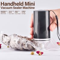 Handheld Mini Vacuum Sealer Maschine Cordless USB wiederaufladbare Vakuum-Versiegelungssystem Food Storage Saver mit 10 wiederverwendbaren Reissverschlusstaschen