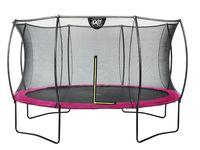 Trampolin EXIT Silhouette mit Sicherheitsnetz Ø366cm pink