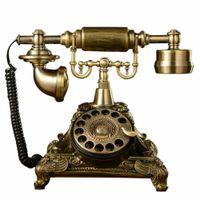 Pro Retro Telefon Antik Nostalgie Design Braun Telefon Dekoration Festnetztelefon