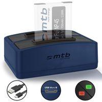 Dual-Ladegerät (USB) für Fujifilm NP-45 / Finepix J.. / JV.. / JX600 ../ JZ500.. / XP80 XP90.. - .s. Liste