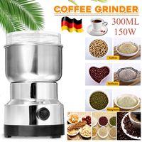 220V Elektrische Kaffeemühle Kaffeebohnen Gewürze Getreide Nuss Bohne Mühle DE