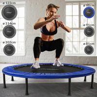 Physionics® Fitness Trampolin - Durchmesser Ø 96 cm, Indoor und Outdoor, max: 100 KG, mit Randabdeckung - Kindertrampolin, Gartentrampolin, Mini Trampolin, klappbar