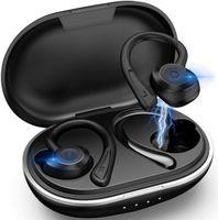 Bluetooth 5.0 Kopfhörer Sport[2021 Neuestes Modell] Kopfhörer Sport Joggen IPX7 Wasserdicht Sport Kopfhörer Kabellose In Ear 36 Stunden Spielzeit mit Ladebox für Alle Smartphone