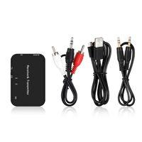 B9 2 in 1 Bluetooth Audio Sender & Empfänger Drahtloser Bluetooth Audio Adapter 3,5 mm Stereo Audio Player【Schwarz】