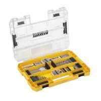 DeWALT Bit und Bohrer-Set DT70763-QZ inkl. Tough Case und Magnethalter, hohe Passgenauigkeit - 85-teilig