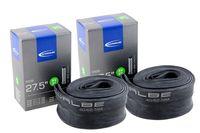 2x Schwalbe Fahrrad Schlauch 27,5 Zoll '40-62/584', AV21-40, extrem luftdruckstabil, Autoventil