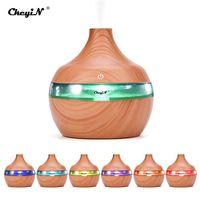 CkeyiN 300ml Luftbefeuchter Ultraschall Elektrisch Aroma  Diffusor mit 7 Farben LED Ideal für Baby, Bad, Yoga, Zuhause