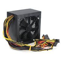 MECO 600 Watt ATX 12V PC Gamer Computer Netzteil SILENT + Kabel +120mm Lüfter