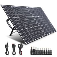 SWAREY Solarladegerät Tragbare 100W Folding Faltbare Solar Panel Ladegerät USB Ausgang Mobile Power Bank für Smartphones Laptops Autobatterien