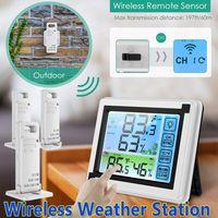 Wetterstation Thermometer Barometer mit Außensensor Funk Uhr Wecker +Hygrometer