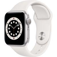 Apple Watch Series 6 GPS 40mm Silver Alu Case White Sport Band