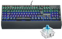 KM-Gaming K-GK2 Mechanical Aluminium RGB USB Keyboard with Cherry MX RGB Blue Switches DEU Layout QWERTZ - (DEU Layout - QWERTZ)