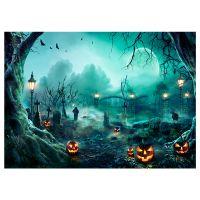 Halloween Thema Fotografie Hintergrund Portraetfotografie Kulissen mit Kuerbismuster Fotostudio Requisiten fuer Portraetfotos Partydekoration, Groesse 2,1 * 1,5 m / 7 * 5 ft